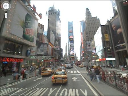 Vista de Times Square en Nueva York desde Street View