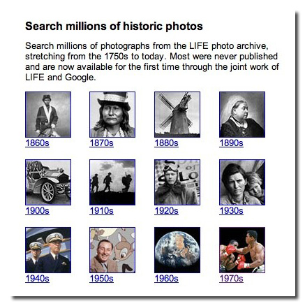 Archivo LIFE en Google